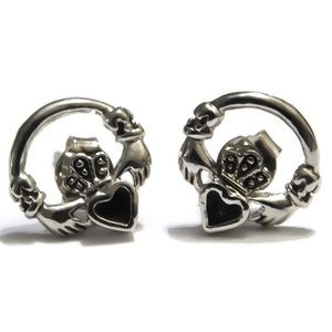 925 Claddagh Stud-Post Earrings